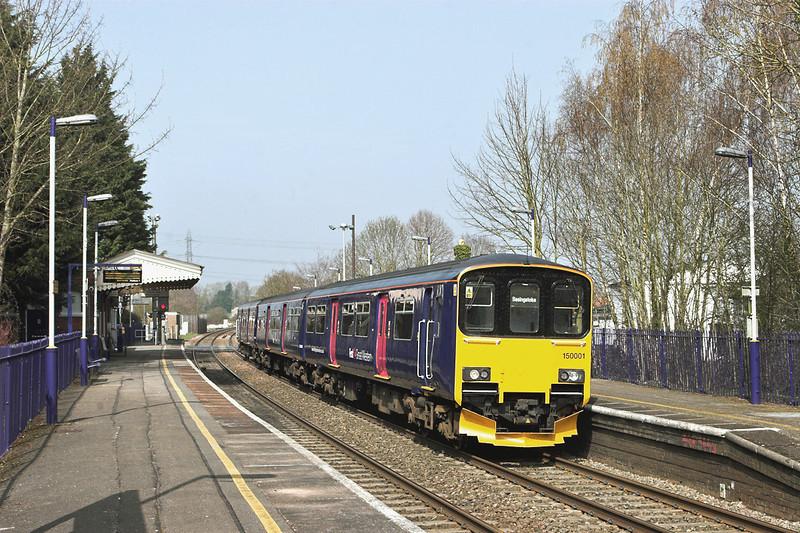 150001 Bramley 30/3/2012<br /> 2J35 1307 Reading-Basingstoke