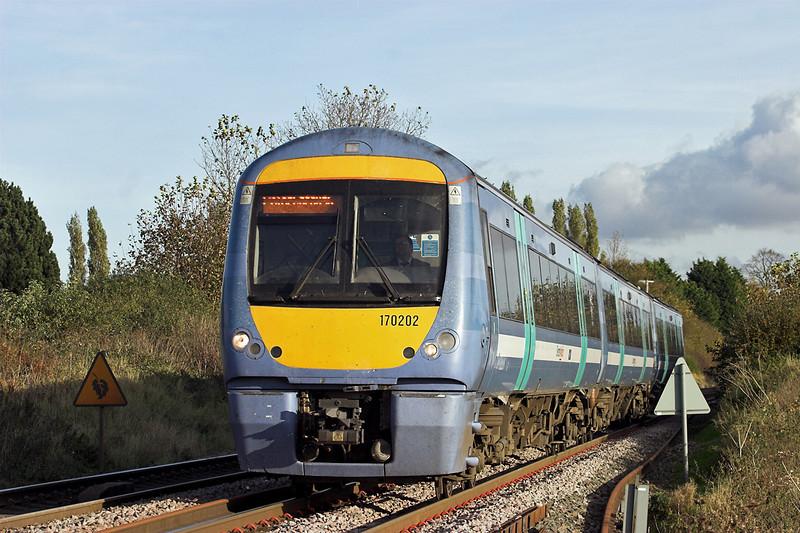 170202 Elmswell 30/10/2012<br /> 1E78 1400 Ipswich-Peterborough