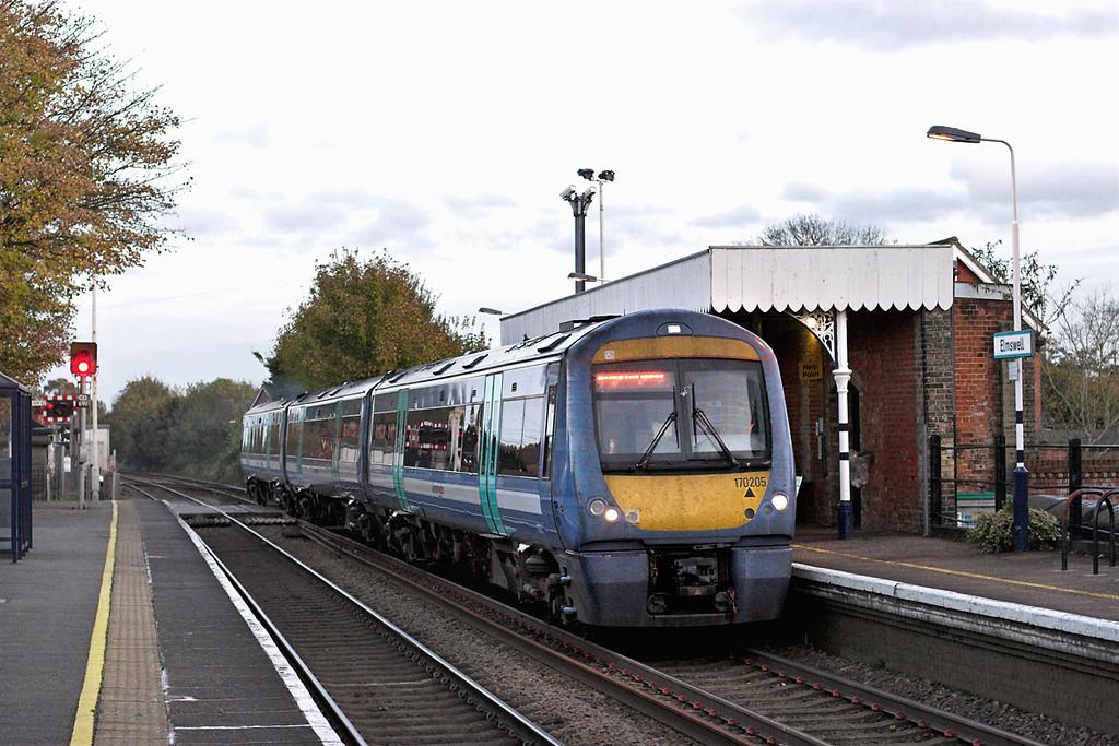 170205 Elmswell 30/10/2012<br /> 1E80 1600 Ipswich-Peterborough
