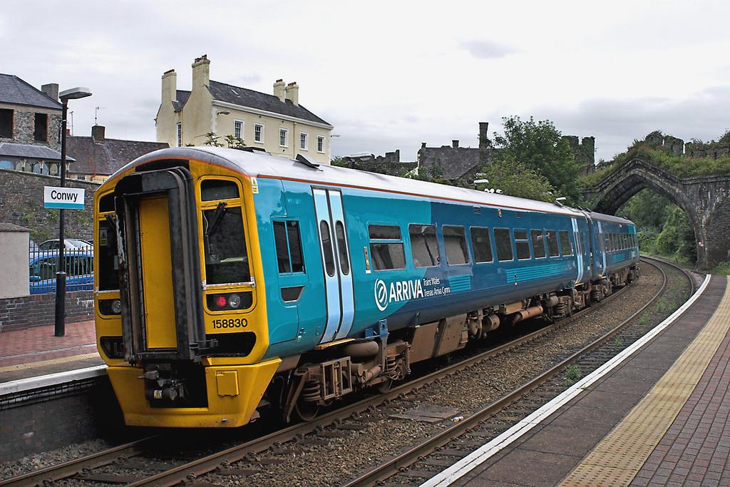 158830 Conwy 31/7/2012<br /> 1G50 1323 Holyhead-Birmingham International