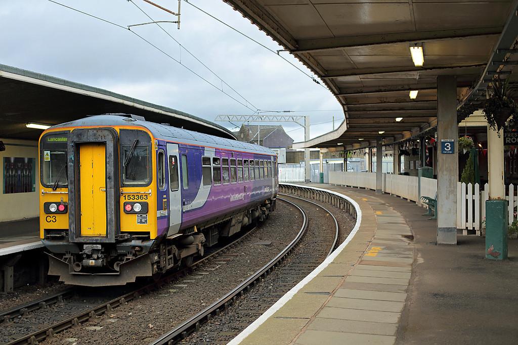 153363 Carnforth 1/11/2013<br /> 2C41 1332 Lancaster-Carlisle