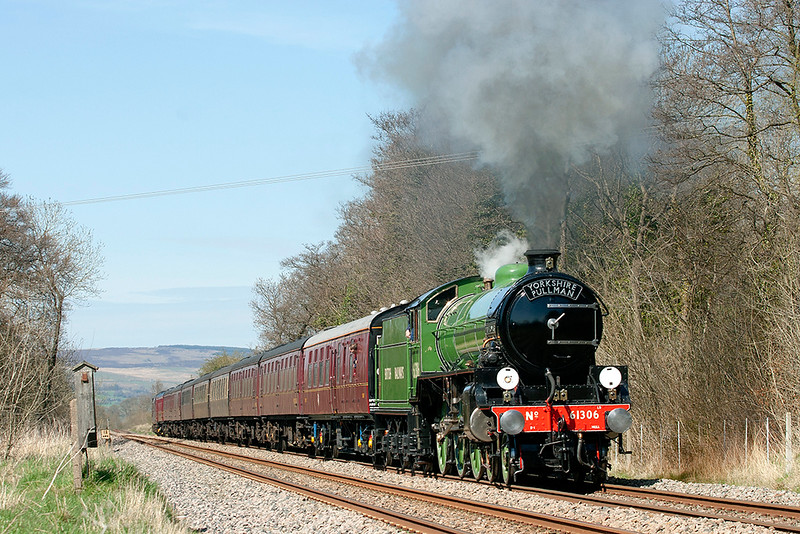 61306 'Mayflower', Barrow 2/5/2013<br /> 5Z50 1000 Carnforth-Carnforth (via Hellifield, Blackburn)