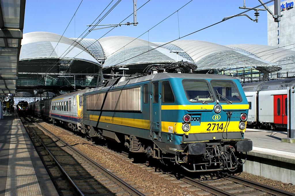 2714 Leuven 4/3/2013<br /> IC1734 1208 Liège Guillemins-Saint Ghislain