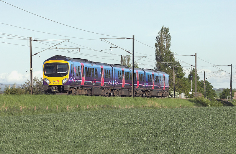 185107 Birkby 4/6/2013<br /> 1P50 1635 Manchester Airport-Newcastle