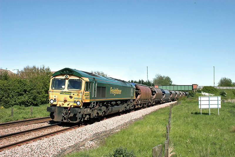 66622 Coatham 4/6/2013<br /> 6F25 1523 Boulby Mine-Tees Dock