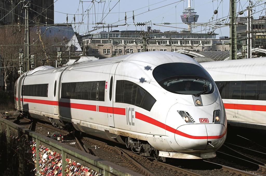 403506 Köln Hbf 5/3/2013<br /> ICE105 0804 Amsterdam Centraal-Basel SBB