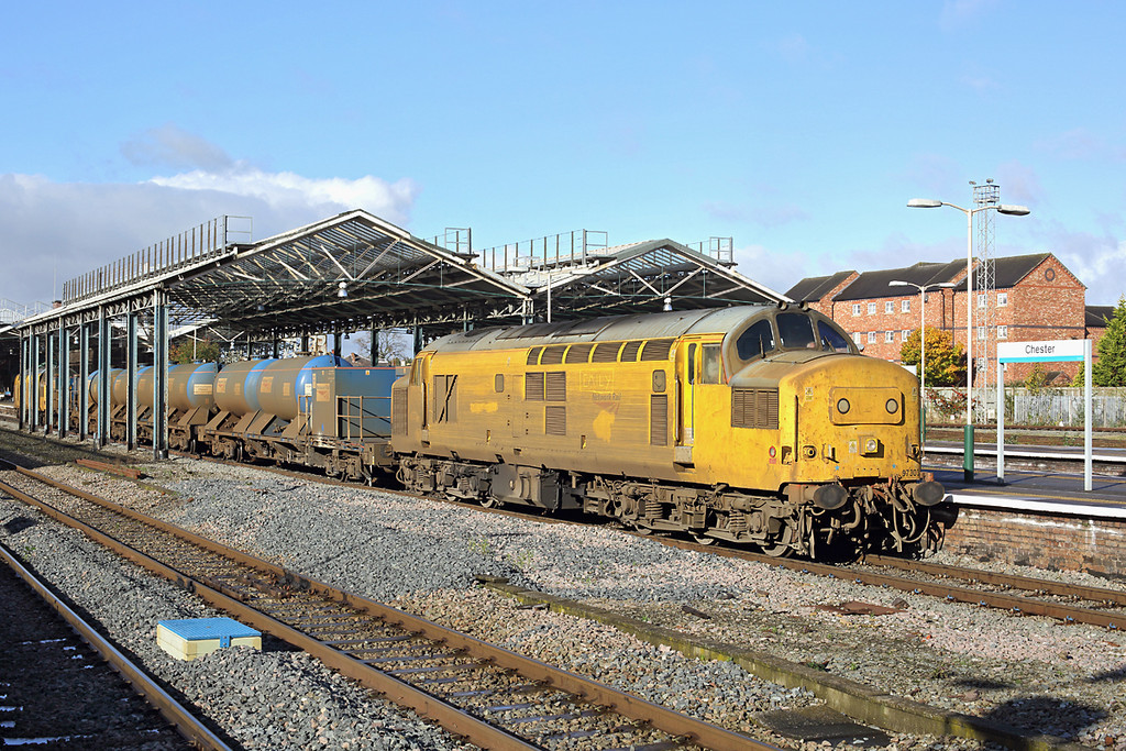 97303 and 97304, Chester 5/11/2013<br /> 3S71 1843 Crewe IEMD-Crewe IEMD<br /> (via Shrewsbury, Machynlleth, Shrewsbury, Craven Arms, Crewe IEMD and Holyhead)