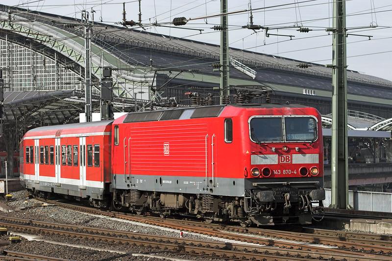 143870 Köln Hbf 6/3/2013<br /> S6 1252 Köln Nippes-Essen Hbf