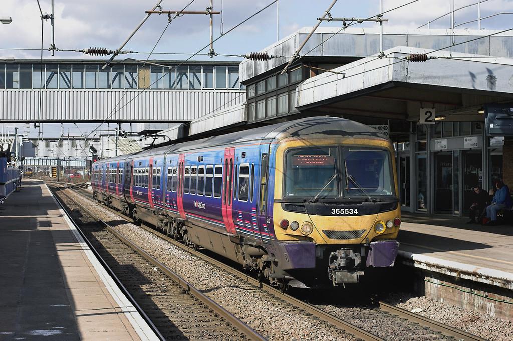 365534 Peterborough 6/4/2013<br /> 2P73 1522 Peterborough-London Kings Cross