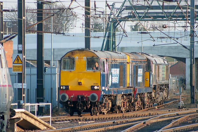 20304, 20312 and 66430, Doncaster 6/4/2013<br /> 0Z47 1800 York-Doncaster
