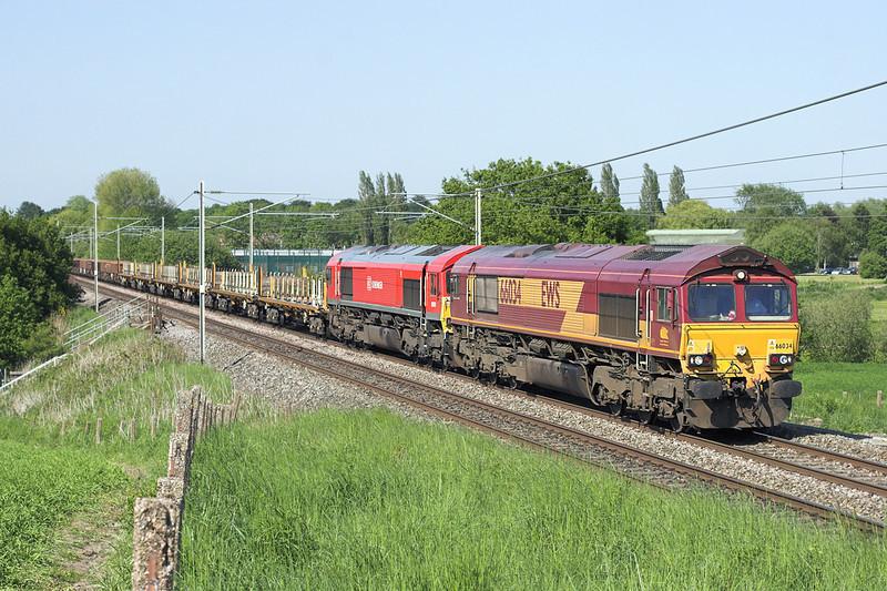 66034 and 66101, Red Bank 6/6/2013<br /> 6K05 1218 Carlisle Yard-Basford Hall