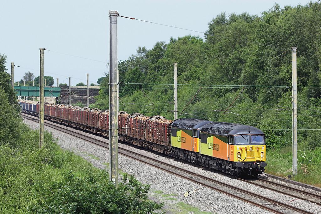 56087 and 56105, Standish 8/7/2013<br /> 6J37 1012 Carlisle Yard-Chirk