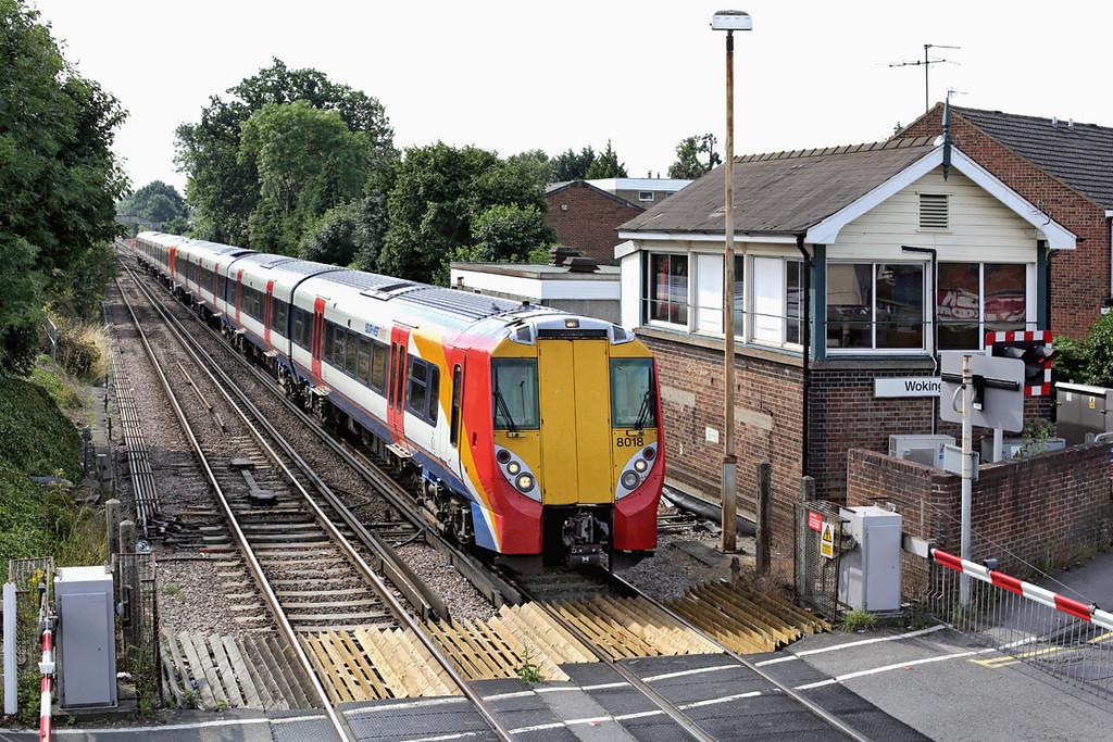8018 and 8029, Wokingham 8/8/2013<br /> 2C23 0950 London Waterloo-Reading