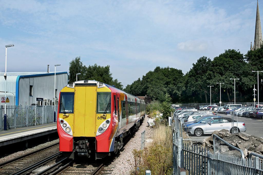 8019 Wokingham 8/8/2013<br /> 2C32 1112 Reading-London Waterloo