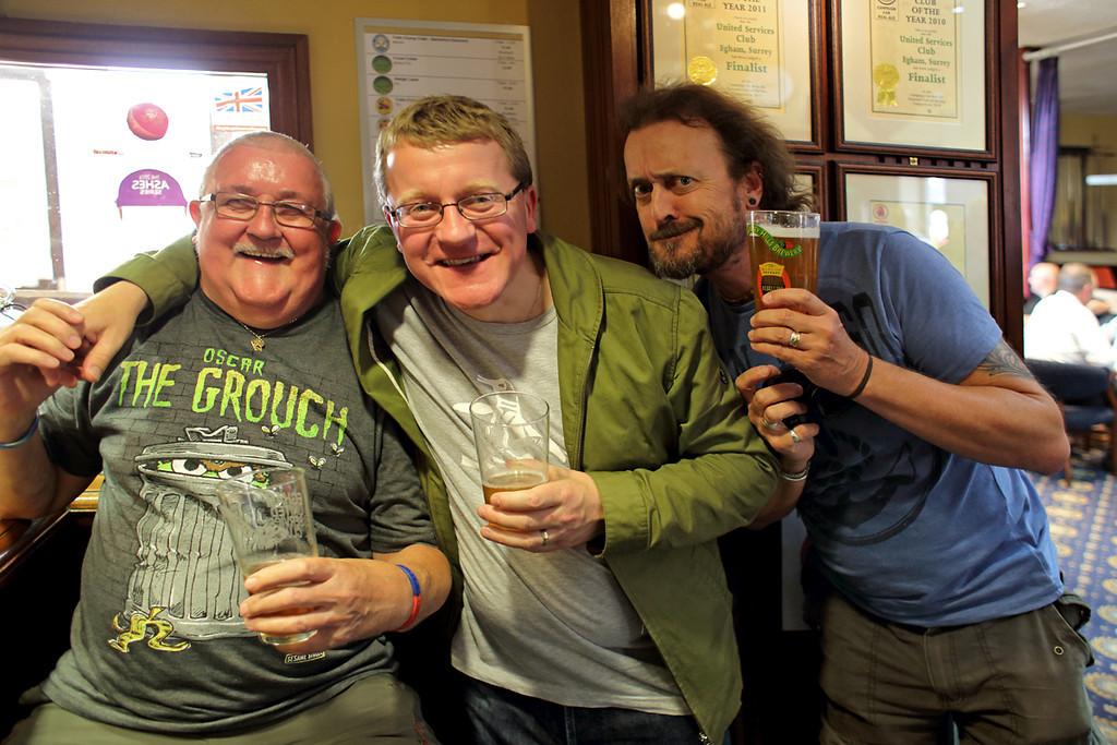 Frank McKinstry, Matt Drummond and Chris Nevard, Egham Beer Festival 8/8/2013