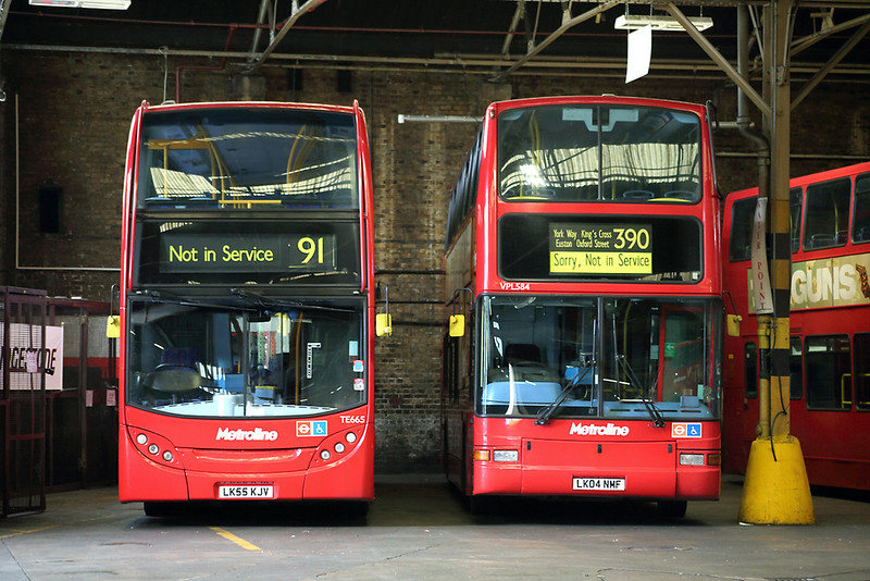 TE665 LK55KJV and VPL584 LK04NMF, Holloway Garage 10/8/2013