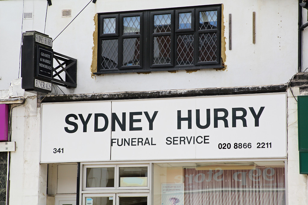 Sydney Hurry Funeral services, Rayners Lane, London 10/8/2013