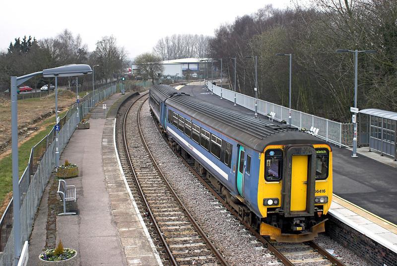 156416 Beccles 11/4/2013<br /> 2D81 1207 Lowestoft-Ipswich