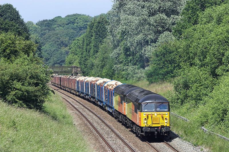 56105 and 56087, Ramsgreave 11/7/2013<br /> 6J37 1037 Carlisle Yard-Chirk