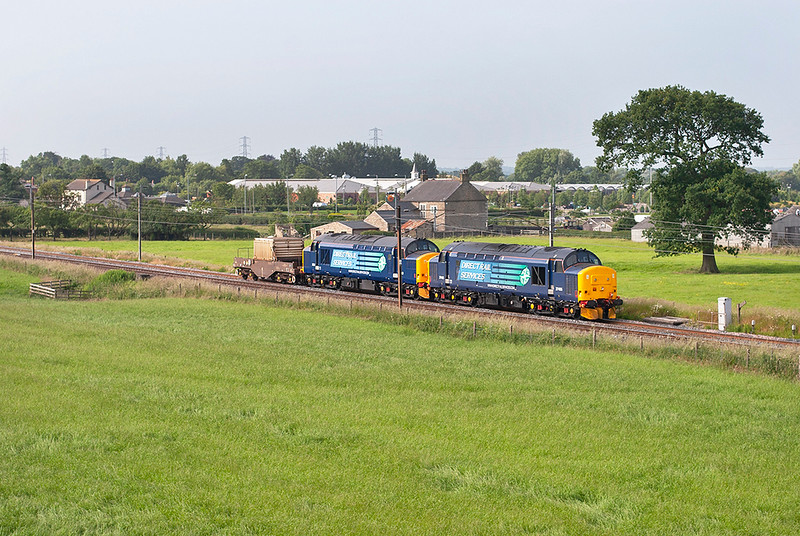 37405 and 37261, Brock 11/7/2013<br /> 6C51 0827 Crewe CLS-Sellafield