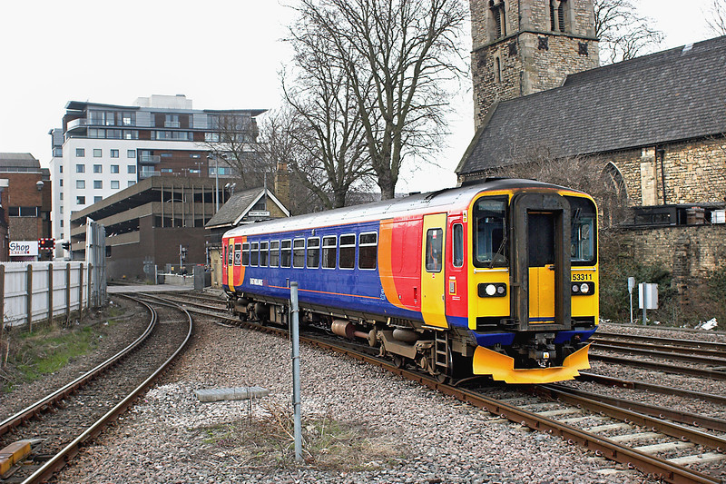 153311 Lincoln Central 12/4/2013<br /> 2K43 1427 Doncaster-Lincoln Central