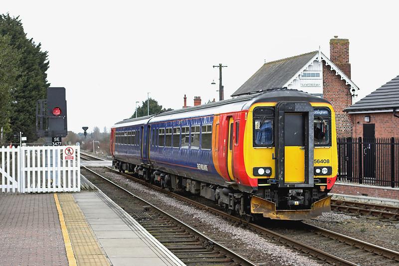 156408 Sleaford 12/4/2013<br /> 2S14 1215 Skegness-Nottingham