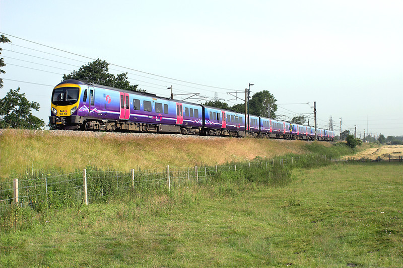 185106 and 185107, Catterall 12/7/2013<br /> 1U56 0729 Barrow in Furness-Manchester Airport