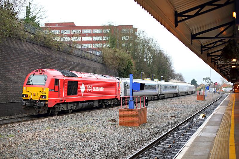 67018 High Wycombe 13/12/2013<br /> 1H55 1312 Birmingham Snow Hill-London Marylebone
