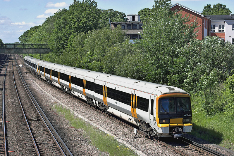465248 and 465027, Petts Wood 14/6/2013<br /> 2S46 1506 London Charing Cross-Sevenoaks