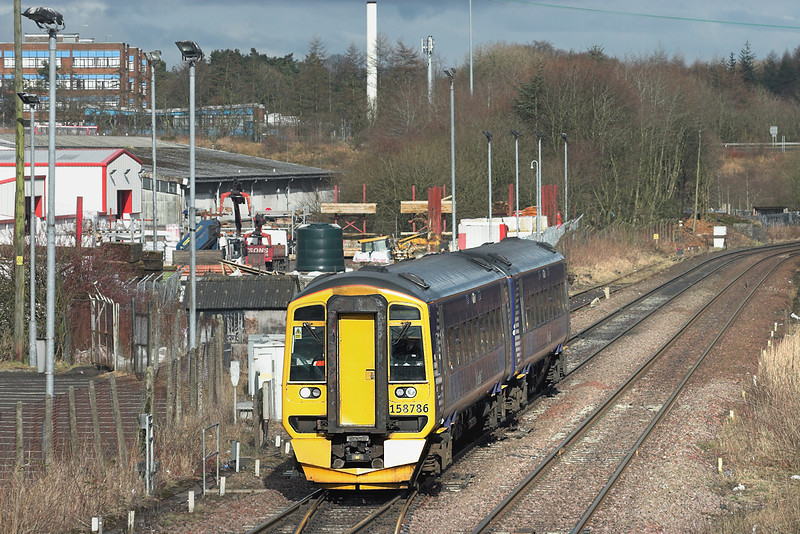 158786 Cumbernauld 15/3/2013<br /> 2D70 1510 Cumbernauld-Motherwell
