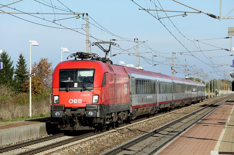 1116 170 Markersdorf a.d. Pielach 15/10/2013<br /> IC692 1456 Wien Westbahnhof-Klagenfurt Hbf