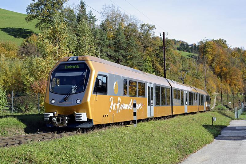 ET3 Frankenfels 15/10/2013<br /> P6825 0935 St Pölten Hbf-Frankenfels