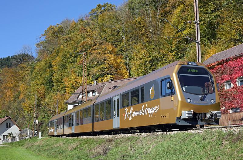 ET3 Frankenfels 15/10/2013<br /> P6832 1109 Frankenfels-St Pölten Hbf