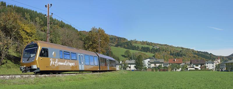 ET2 Frankenfels 15/10/2013<br /> P6809 1035 St Pölten Hbf-Mariazell