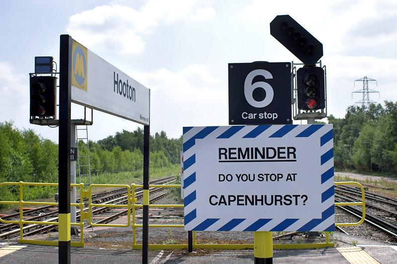 Capenhurst Reminder Sign, Hooton Station 16/7/2013