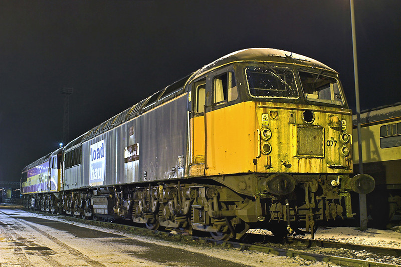 56077 and 56037, Crewe 17/1/2013
