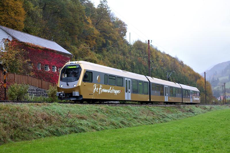 ET4 Frankenfels 17/10/2013<br /> P6825 0935 St Pölten Hbf-Frankenfels