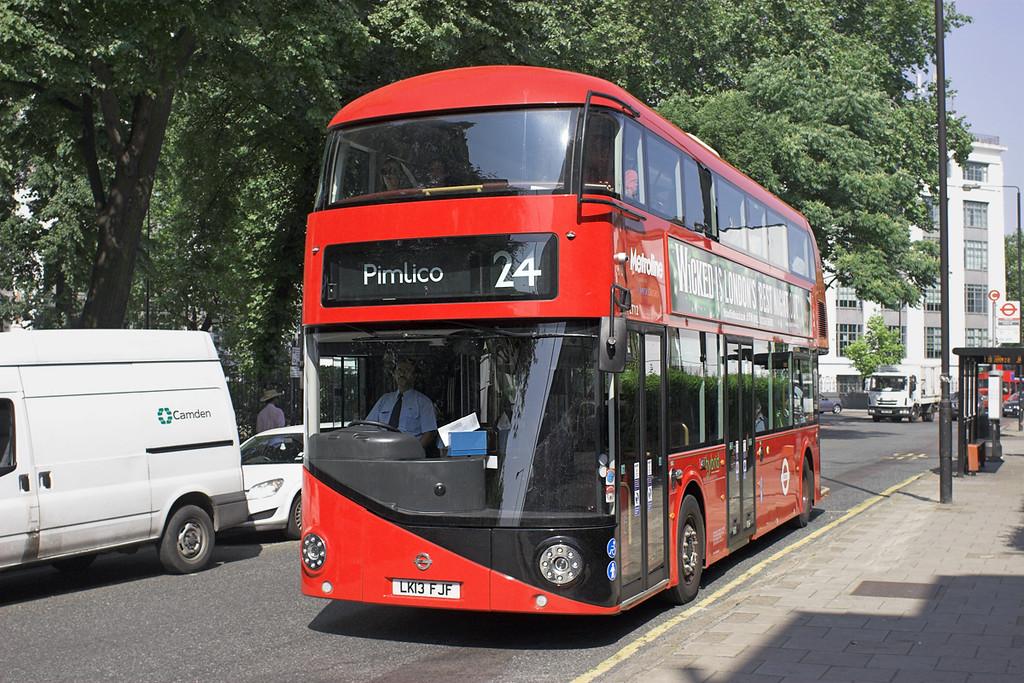 LT12 LK13FJF, Mornington Crescent 18/7/2013