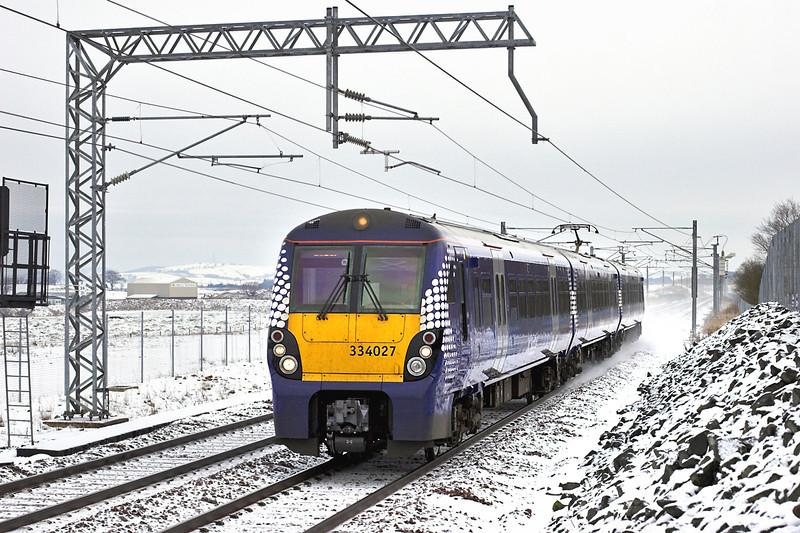 334027 Blackridge 22/1/2013<br /> 2M17 1137 Edinburgh-Milngavie