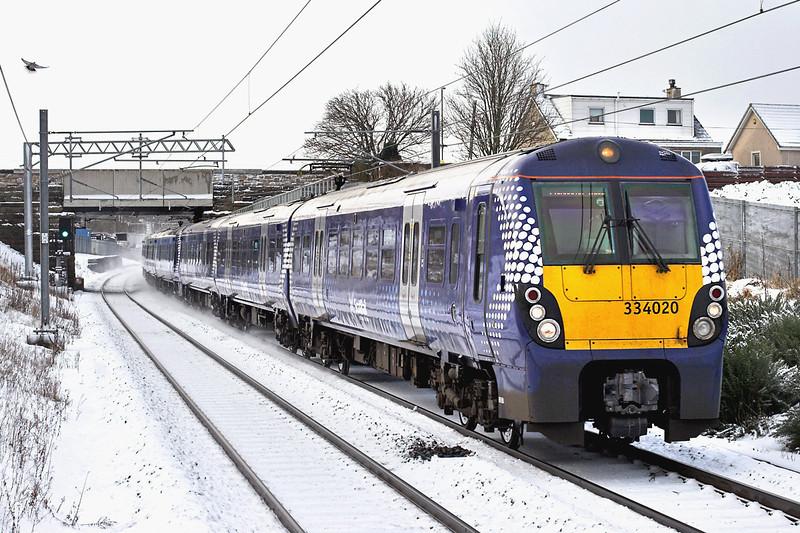 334020 and 334023, Armadale 22/1/2013<br /> 2M32 1027 Milngavie-Edinburgh