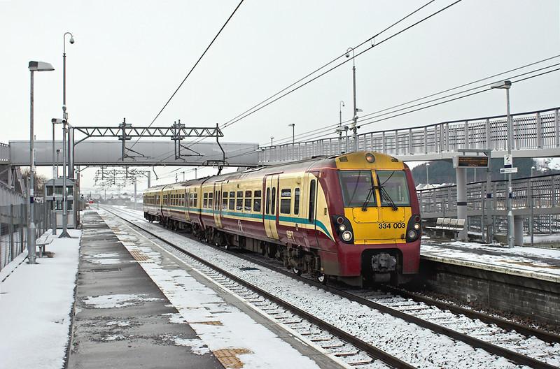 334003 Blackridge 22/1/2013<br /> 2M36 1127 Milngavie-Edinburgh