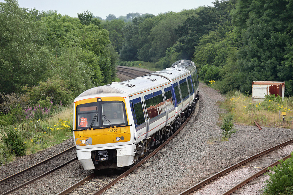 168001 Hatton North Junction 23/7/2013<br /> 1G44 1545 London Marylebone-Birmingham Snow Hill