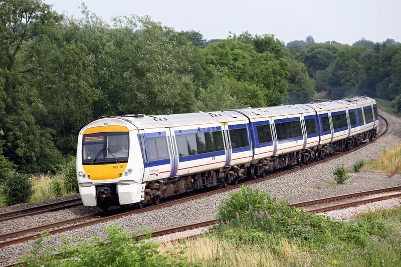 168107 Hatton North Junction 23/7/2013<br /> 1G42 1515 London Marylebone-Birmingham Snow Hill