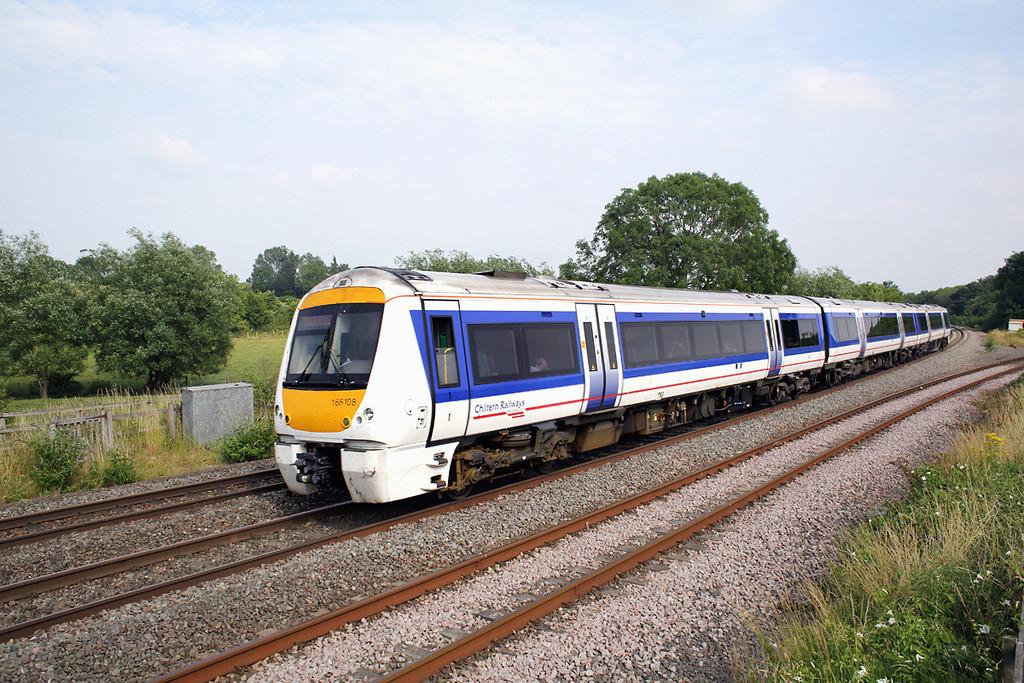 168108 Hatton North Junction 23/7/2013<br /> 1G40 1445 London Marylebone-Birmingham Snow Hill