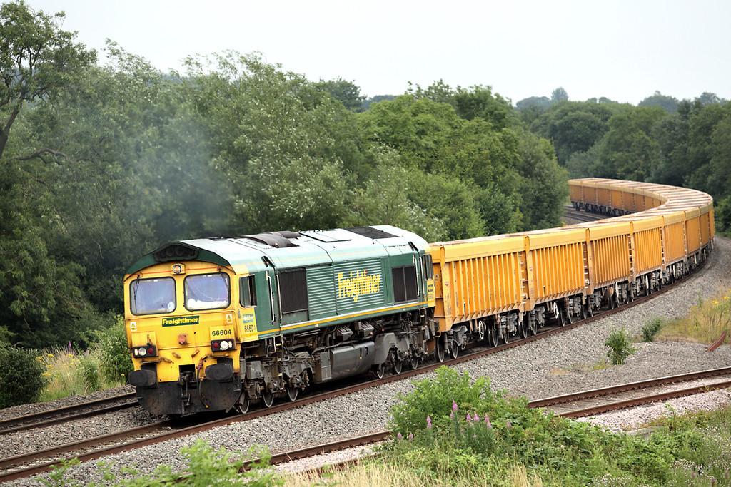 66604 Hatton North Junction 23/7/2013<br /> 6M40 1156 Westbury-Stud Farm