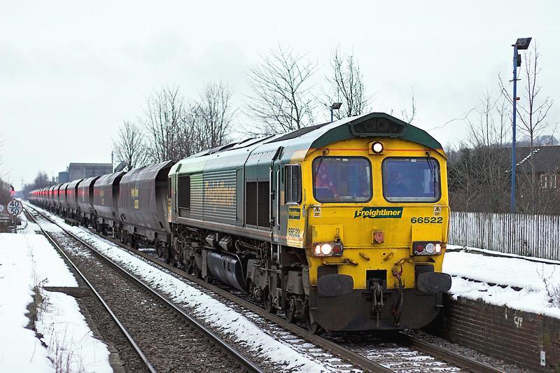 66522 Castleford 25/1/2013<br /> 6R14 1345 Immingham Dock-Ferrybridge PS