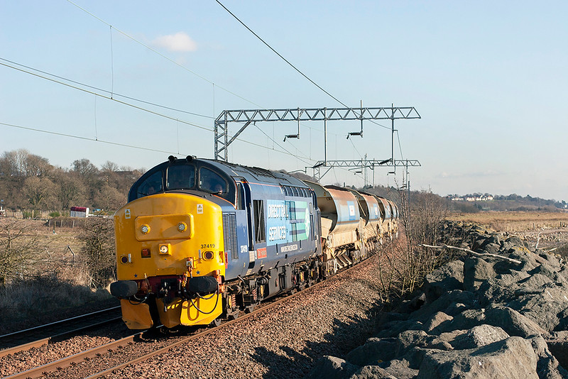 37419 Cardross 25/2/2013<br /> 6K60 1230 Mossend Down Yard-Fort William