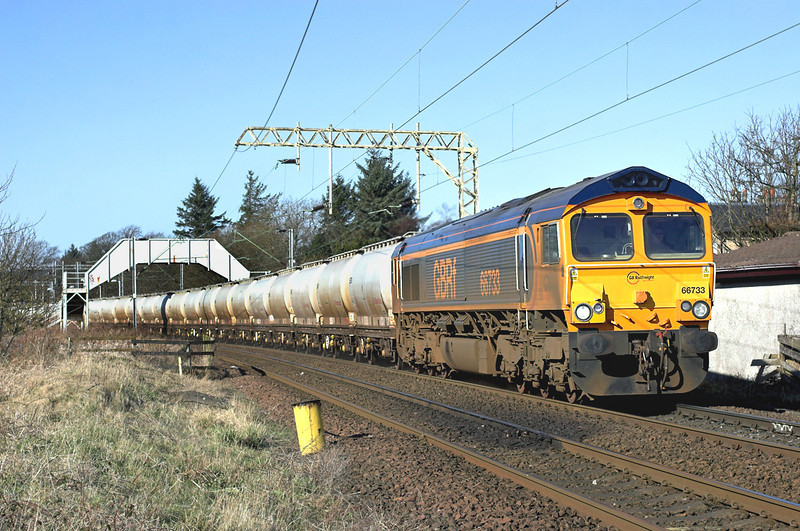 66733 Cardross 25/2/2013<br /> 6E45 0806 Fort William-North Blythe