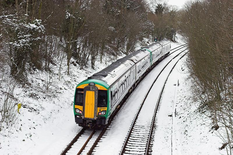 172221 and 172215, Yardley Wood 25/3/2013<br /> 2J37 1126 Stratford upon Avon-Stourbridge Junction