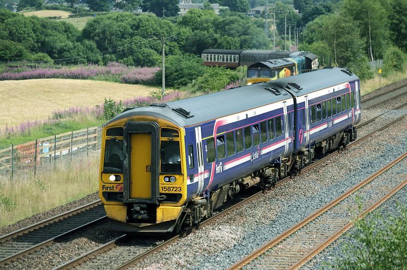 158723 Manuel Junction 27/7/2013<br /> 2P27 1404 Edinburgh-Dunblane